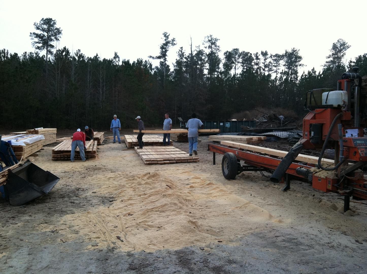 Portable Sawmill Rental >> Lynchco Llc Portable Sawmill Custom Lumber In Wake